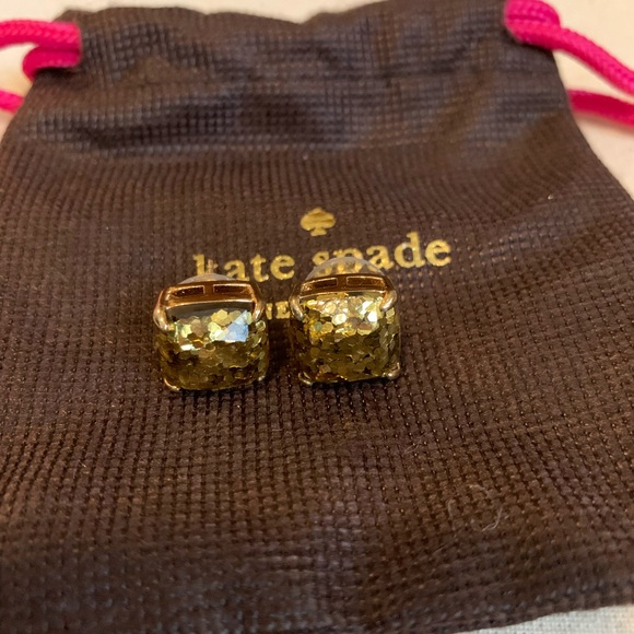 Kate Spade Small Square Studs in gold
